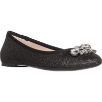 Jewel Badgley Mischka Cabella Ballet Flats, Black /Gold Light, 11 US