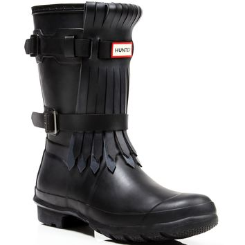 Hunter Rain Boots - Original Short Fringe Front