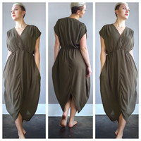 A Jasmine Dress in Olive