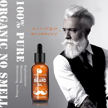 30ml Men Beard Oil for Styling Smoothing - Growth Care Conditioner Softener
