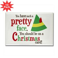 Buddy Elf Pretty Face Rectangle Magnet (10 pack)