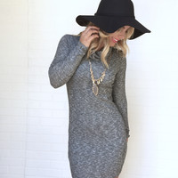 Subliminal Bliss Dress In Grey