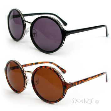 Round Glasses Cyber Goggles Vintage Retro Style Man or Women's Sunglasses