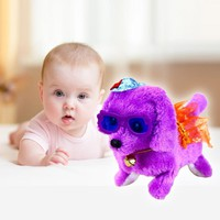 New Electronic toys pet dogs Robotic Cute Electronic Walking Pet Dog Puppy Kids Toy With Music Light