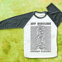 Joy Division TShirts Unknown Pleasures TShirts Punk Rock TShirts Raglan Tee Shirts Baseball Shirts Unisex TShirts Women TShirts Men TShirts
