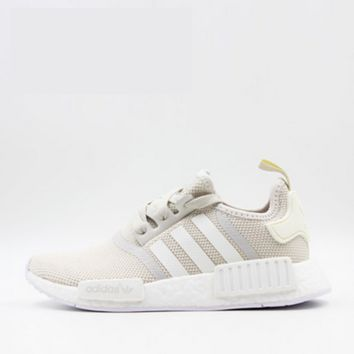 ADIDAS Women Running Sport Casual NMD Shoes Sneakers  Beige