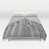 Vintage Chrysler Cuilding 1930's Duvet Cover by Wood-n-Images | Society6
