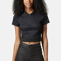Women's Topshop Crop Polo Shirt,