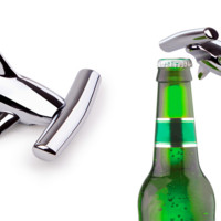 Umbra Chrome Plated Hammerhead Shark Wine Beer Bottle Opener Corkscrew Classy Luxurious