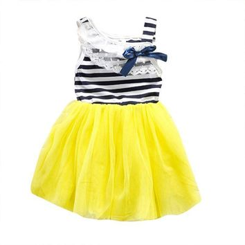 Summer Style fashion  baby girl ball gown dress lace+cotton material 3 colors 0-2Y