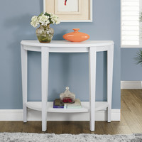 "White 36""L Hall Console Accent Table"