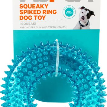 ASPCA Squeaky Spiked Ring Dog Toy-Blue
