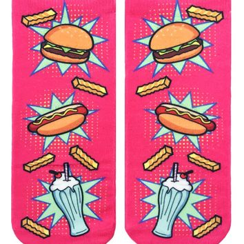 Pop Art Food Ankle Socks