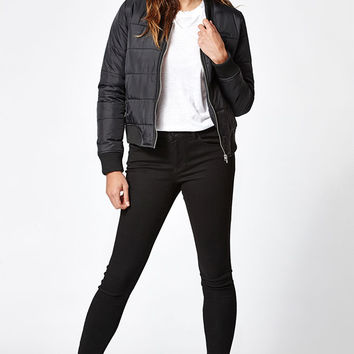 Rhythm Zennor Quilted Bomber Jacket at PacSun.com