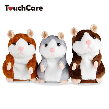 Talking Hamster Mouse Pet Plush Toy Cute Sound Record Hamster Interactive Educational Toy For Kids Gift