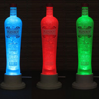 Kinky Vodka Liqueur Color Changing LED Remote Controlled Eco Friendly rgb LED Bottle Lamp/Bar Light / Intense Glow -Bodacious Bottles-