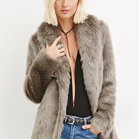 Shawl Collar Faux Fur Coat