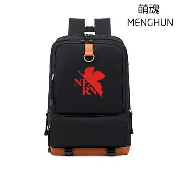 Japanese Anime Bag NEON GENESIS EVANGELION BACKPACKS big school bag for eva fans EVA  props NERV logo printing backpacks NB193 AT_59_4