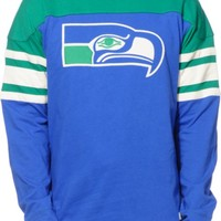 NFL Mitchell and Ness Seahawks Pump Fake Knit Jersey