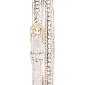 Dries Van Noten Crystal Studded Leather Belt | Nordstrom