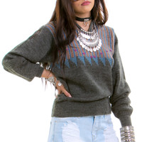 Vintage 70's Come Together Tassel Sweater - XS/S/M