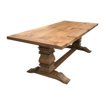 Handcrafted Weathered Berkley Farmhouse Table