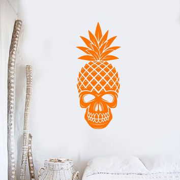Vinyl Wall Decal Skull Pineapple Tropical Art Home Interior Decor Stickers Mural (ig5685)