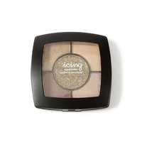 Shimmer Eyeshadow Quad with Glitter-Bronze  | Icing