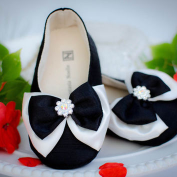 Wedding Shoes, Tuxedo Party Flats for Toddlers
