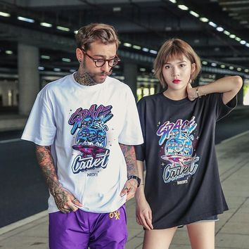 Short Sleeve Summer Couple Cotton T-shirts [450427420701]