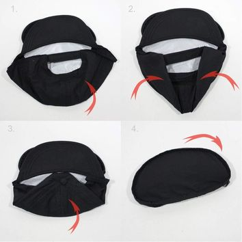 Cap Sac Adjustable Cap with Pocket Black
