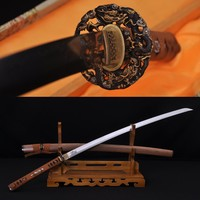 10% off TOP QUALITY CLAY TEMPERED JAPANESE SAMURAI HUALEE WOODEN SWORD KATANA DAMASCUS FULL TANG HAND FORGE BLADE FOLDED STEEL SHARP