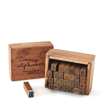 Handwriting Style Alphabets Stamp Set