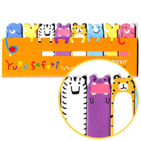 Elephant Tiger Hippo Giraffe Memo Pad Post-it Index Tab Sticky Notes Tabs | Cute Safari Animal Themed Scrapbook Supplies