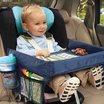 Children Tray Waterproof Table Snack Buggy Pushchair