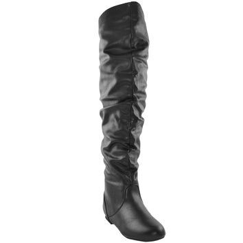 Womens Over the Knee Boots Black