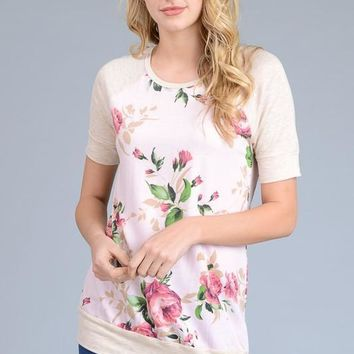 Be Like you Floral top - Pink