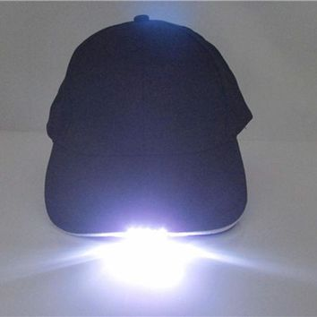 VONE2B5 Super Bright LED Cap Glow in dark for Reading Fishing Jogging LED Lights Sport Hat 2 Modes baseball caps 5 LED lights hats