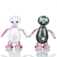 4.7 Inches Mini Glass Water Bongs Lovely Animal Bongs Two Functions Hookahs Oil Rigs Use For Tabacco 10mm Joint DK01