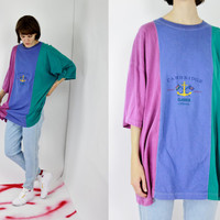 vtg 90s anchor colorblock varsity sailing cambridge t shirt oversized large lrg extra large xlrg