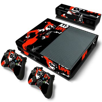 Free Drop Shipping cover Decal for Microsoft XBOX One Skin Sticker Console Controller Decorate