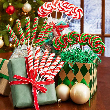 Set of 24 Holiday Swirl Pops