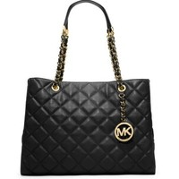Susannah Quilted Leather Large Tote | Michael Kors