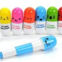 Hot Sale 20pcs/lot, Ballpoint Pen, Vitamin Pill, Novelty Pen, Size12x2.4cm, Gift Pen,multicolor