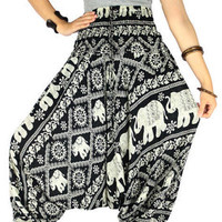 Harem pants Hippie pants Unisex boho Hippie clothes Yoga pants Gypsy pants  Elephant pants Palazzo pants Elephant clothes