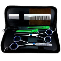 "Pro 6"" Salon Barber Hair Cutting & Thinning Scissors Shears Hairdressing Set Newest SM65"