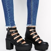 ASOS EUTOPIA Cut Out Ankle Boots