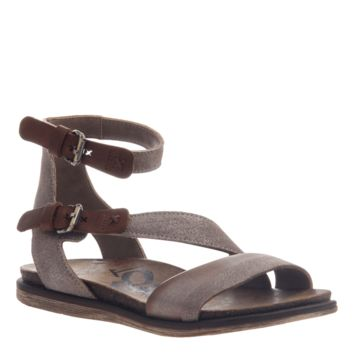 New OTBT Women's Sandals March On in Grey Silver