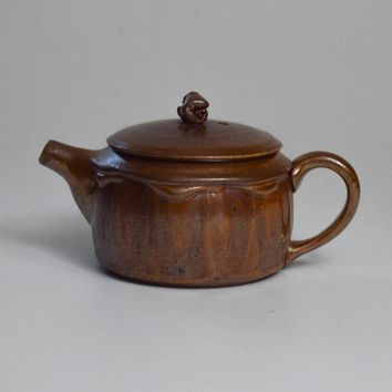 Woodfired Stoneware with Salt Glaze Teapot 125mL by Jonathan Steele