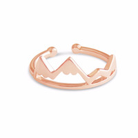 Rose Gold Mountain Top Ring